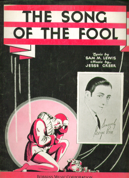 The Song of the Fool 1930 sheet music George Price