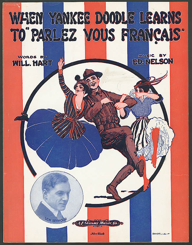Image for When Yankee Doodle Learns to Parlez Vous Francais sheet music 1917 Barbelle