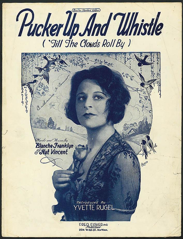 Pucker Up & Whistle pretty girl sheet music 1921