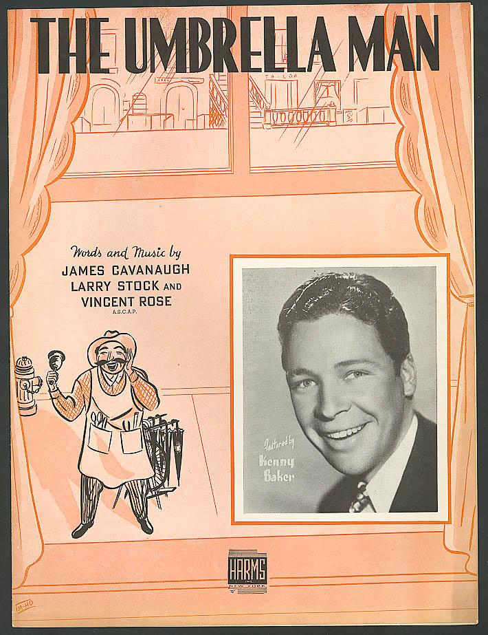 The Umbrella Man Kenny Baker sheet music 1938
