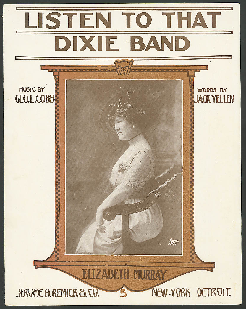 Image for Listen to That Dixie Band Elizabeth Murray sheet music 1914
