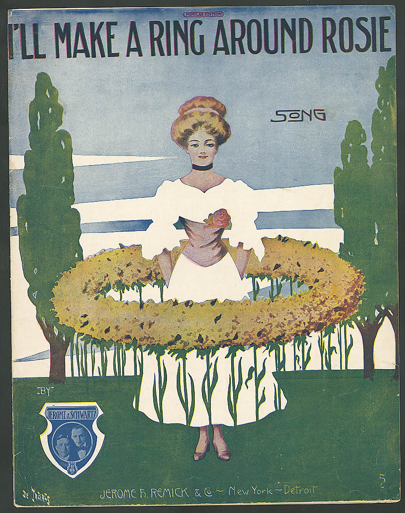 Image for I'll Make a Ring Around Rosie pretty girl sheet music 1910