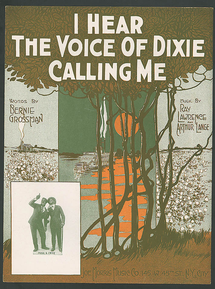 I Hear the Voice of Dixie Calling Me steamboat sheet music 1919