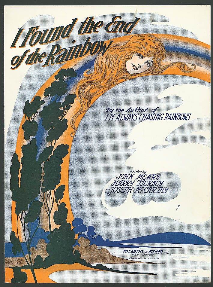 I Found the End of the Rainbow pretty girl music 1918