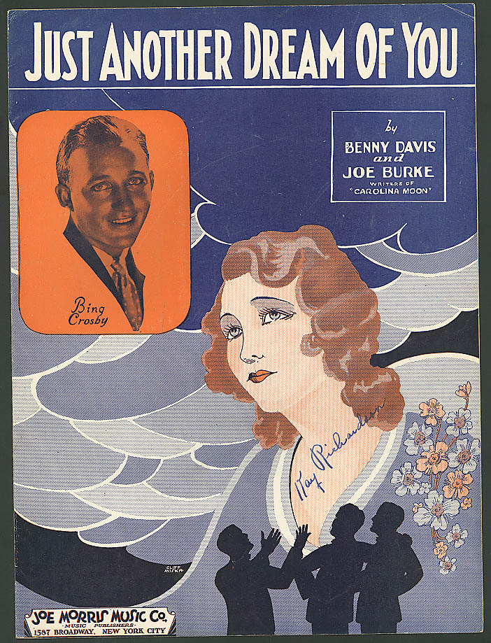 Just Another Dream of You pretty girl sheet music 1932