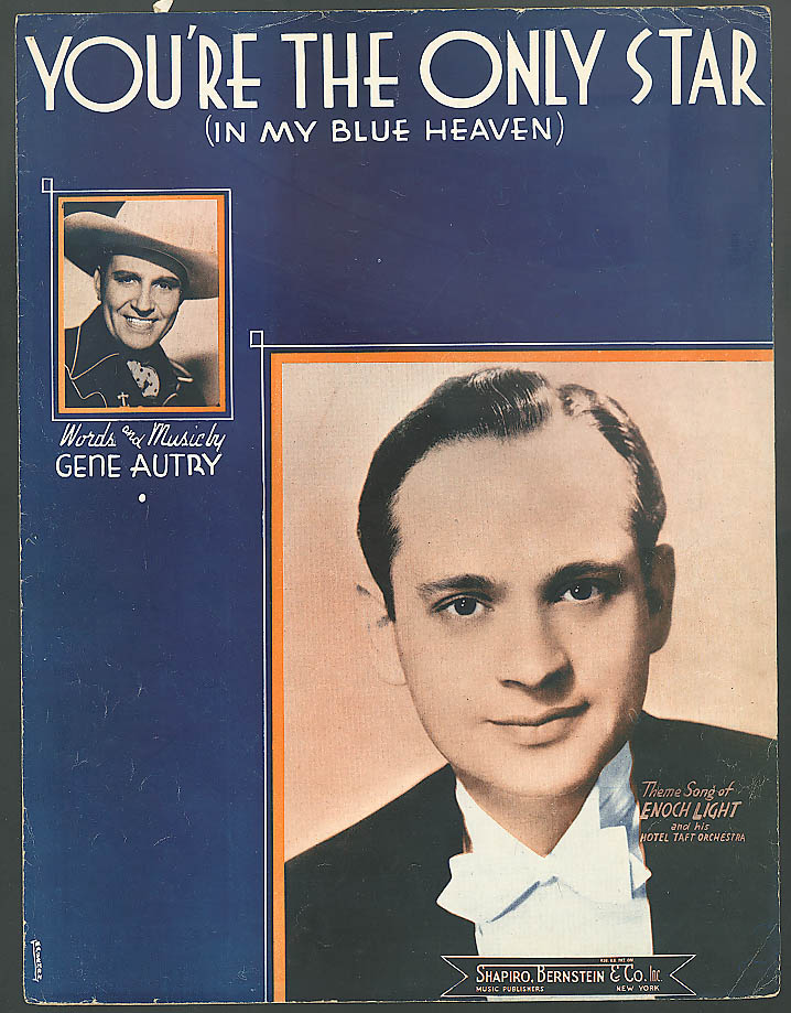 You're The Only Star sheet music Gene Autry 1938