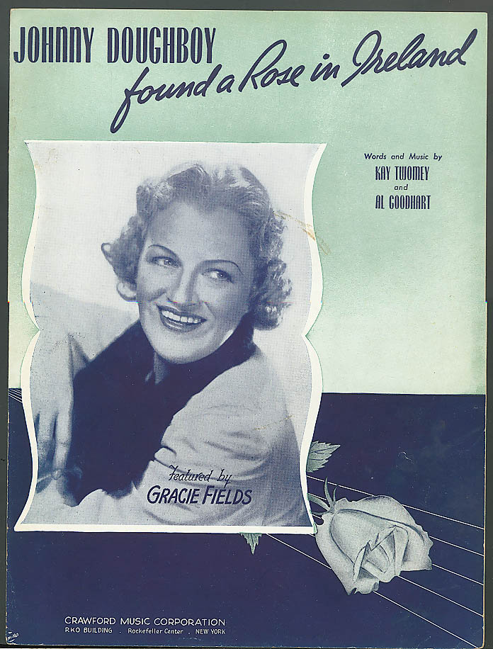 Johnny Doughboy Found a Rose in Ireland sheet music 1942