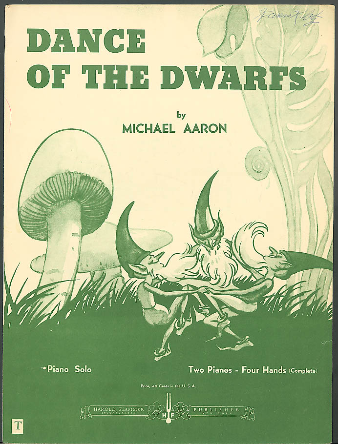 Dance of the Dwarfs sheet music Michael Aaron 1928