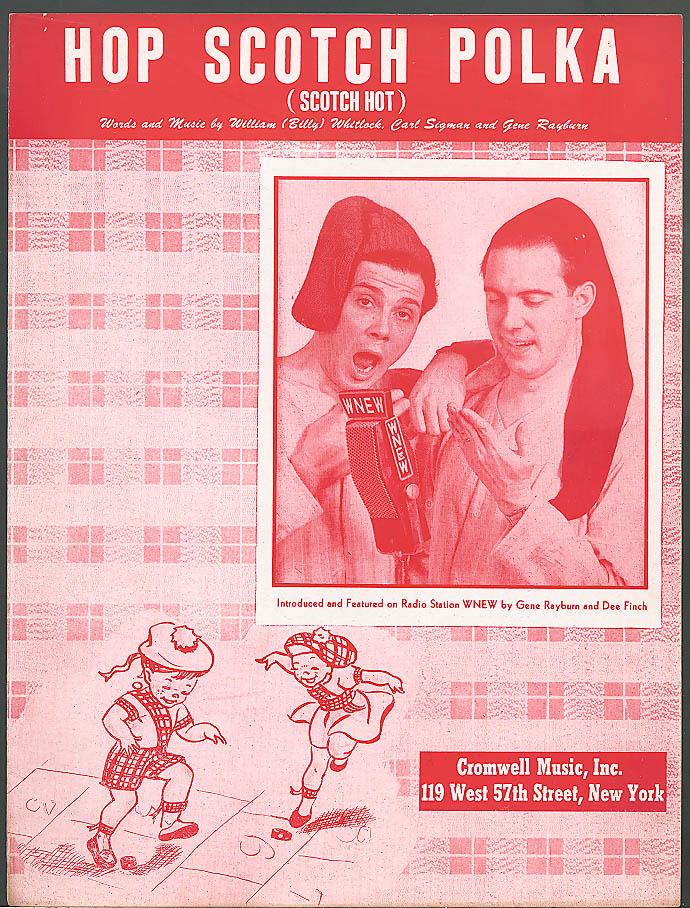 Hop Scotch Polka radio sheet music WNEW 1949