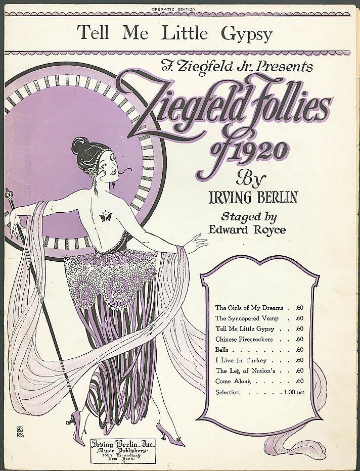 Tell Me Little Gypsy sheet music Irving Berlin 1920