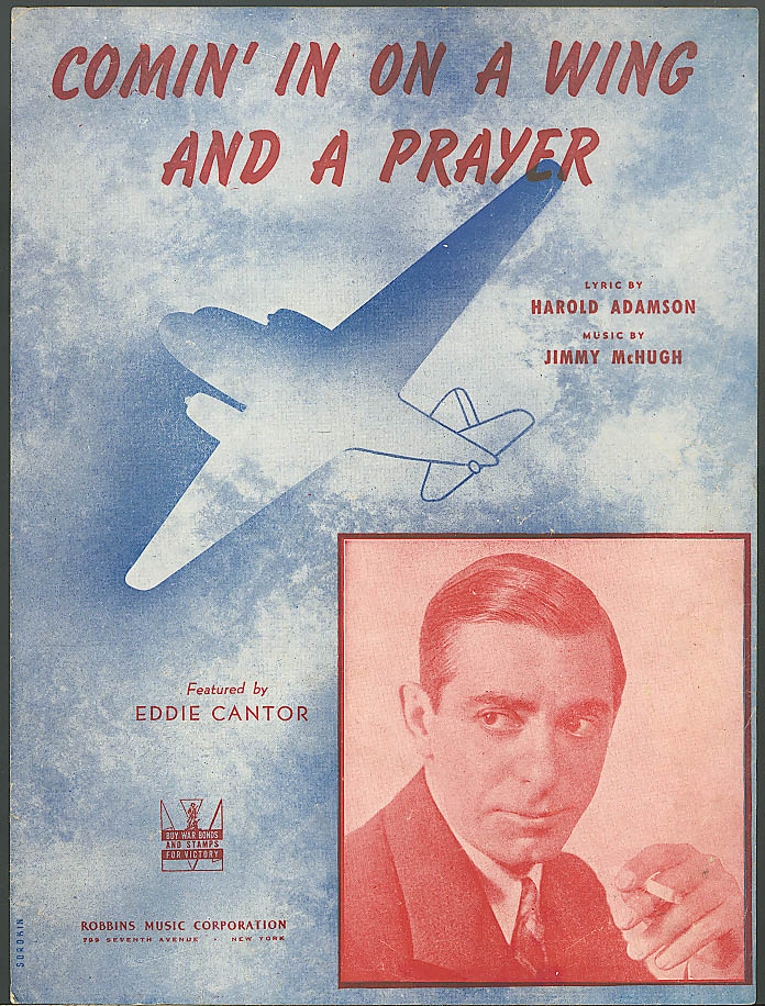 Image for Comin' In On A Wing & A Prayer sheet music 1943