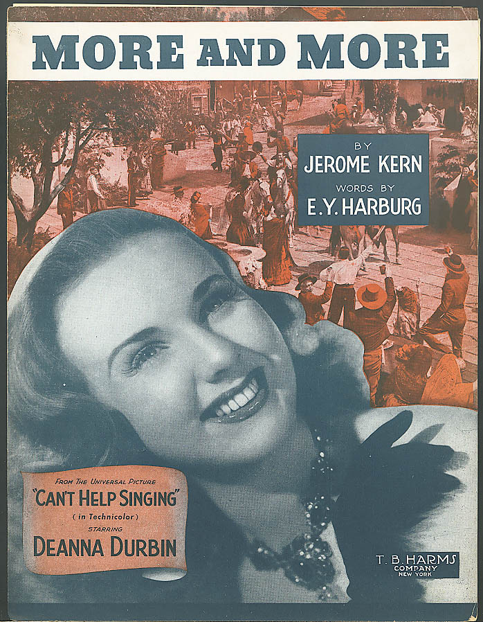 Image for More & More sheet music Jerome Kern Deanna Durbin 1944
