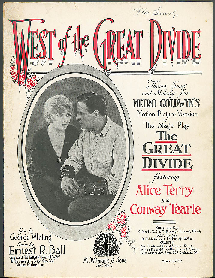 West of the Great Divide movie music Alice Terry 1924