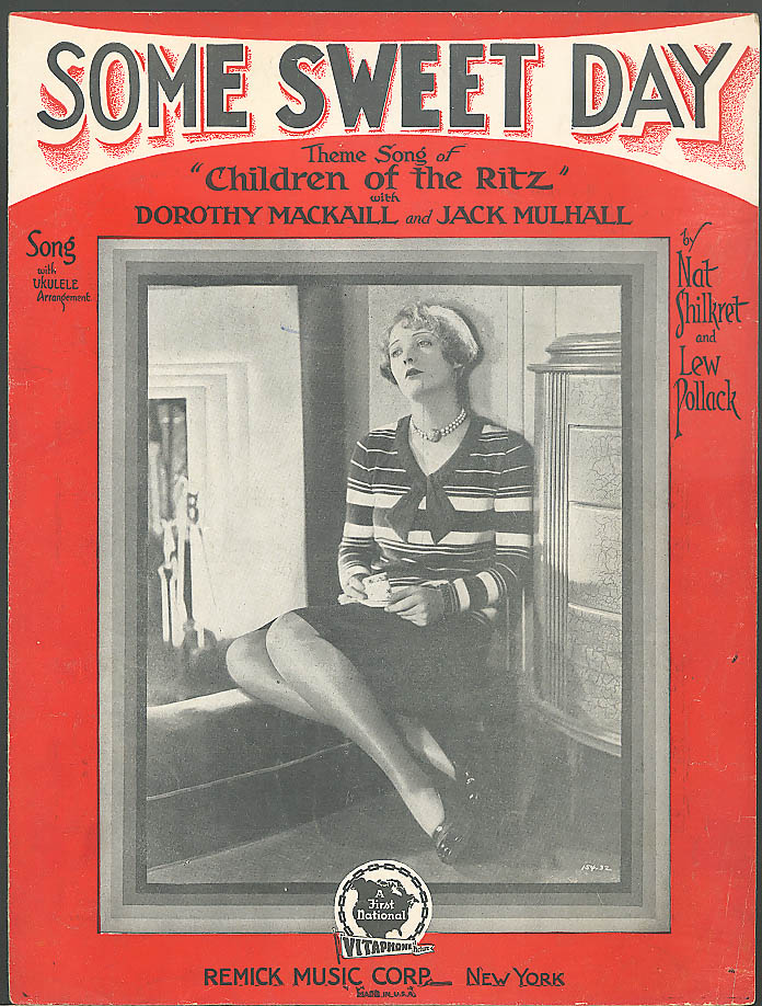Some Sweet Day sheet music Dorothy MacKaill 1929