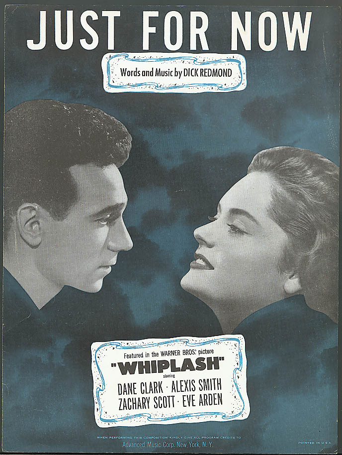 Just for Now movie sheet music Whiplash 1948