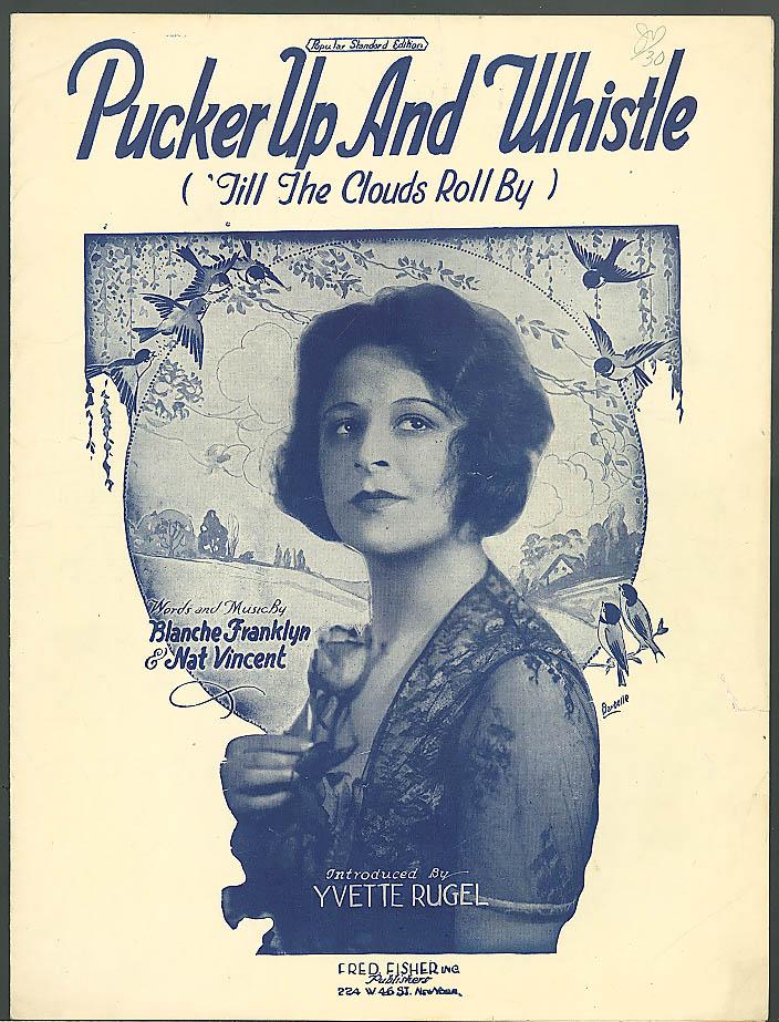 Pucker Up & Whistle sheet music Yvette Rugel 1921