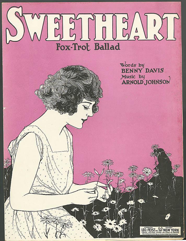 Sweetheart pretty girl sheet music Davis & Johnson 1921