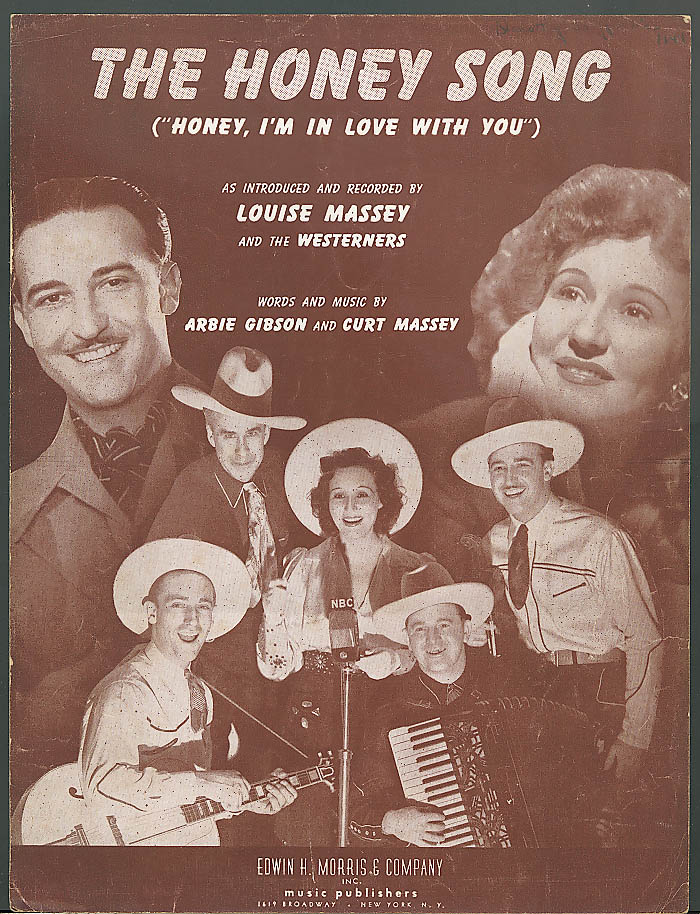The Honey Song sheet music Louise Massey 1942