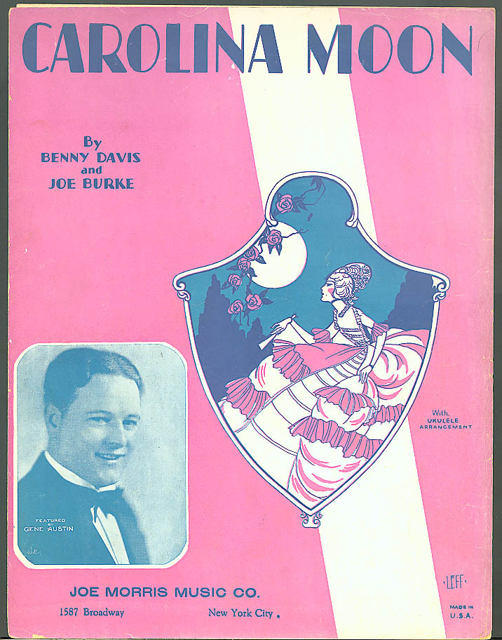 Carolina Moon sheet music Davis & Burke 1928