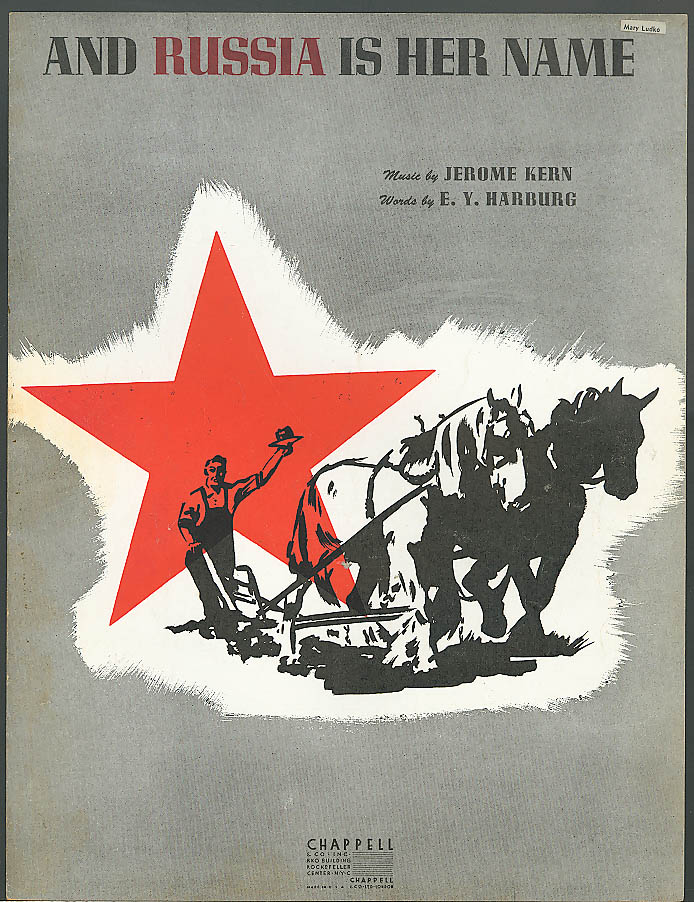 And Russia Is Her Name sheet music Jerome Kern 1943