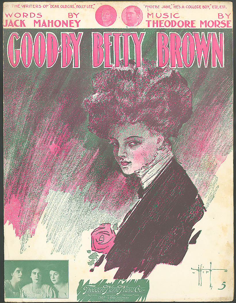 Good-By Betty Brown pretty girl sheet music 1910
