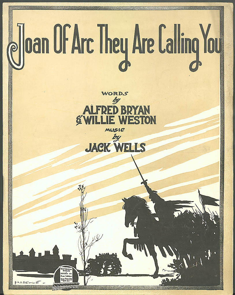 Joan of Arc They Are Callling You sheet music 1917