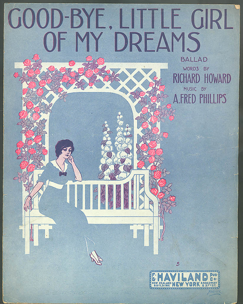 Goodbye Little Girl of My Dreams sheet music 1913