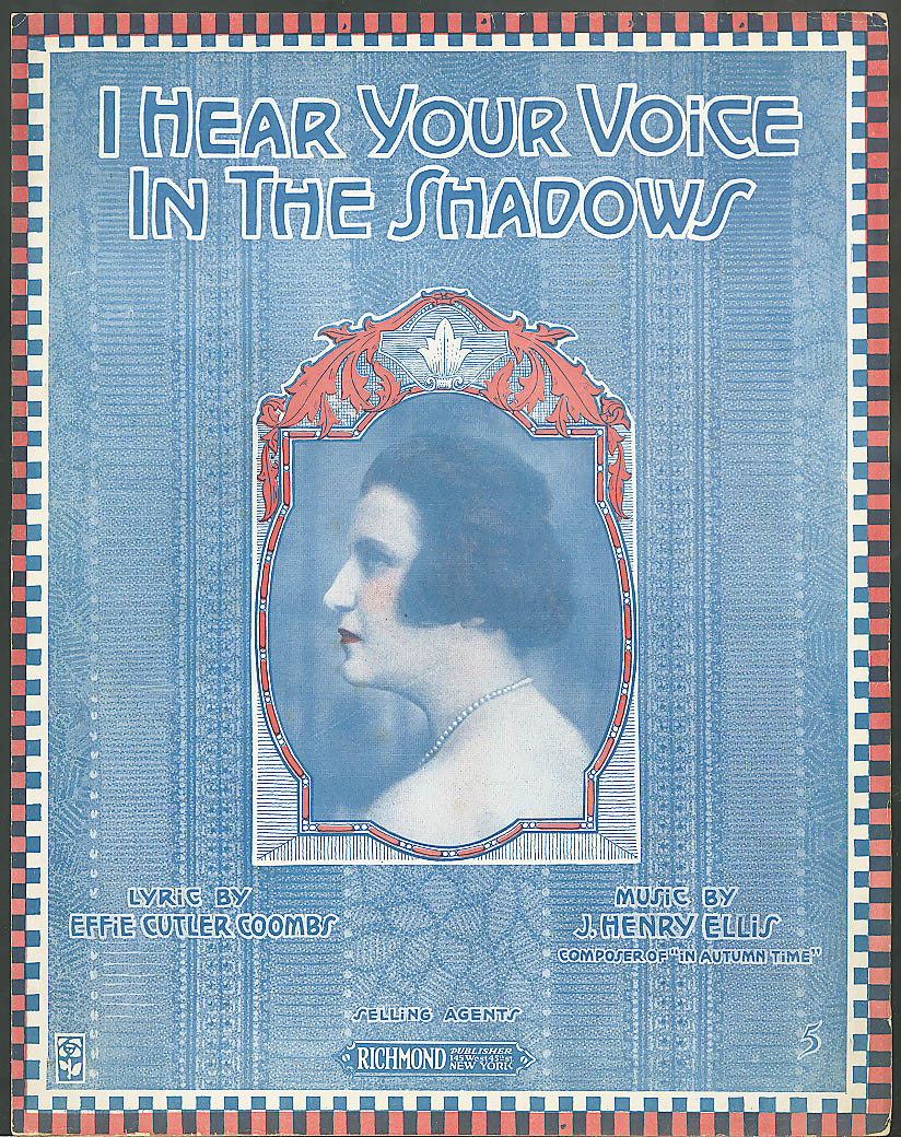 I Hear Your Voice in the Shadows sheet music 1918