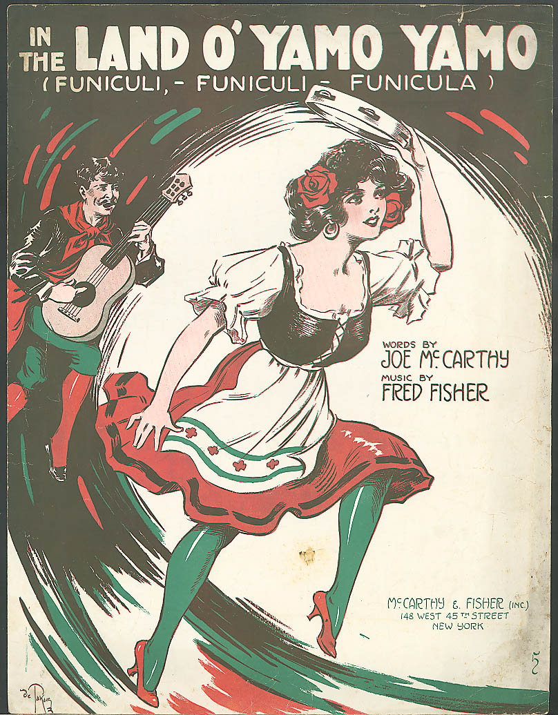 Land o' Yamo Yamo pretty girl sheet music 1917