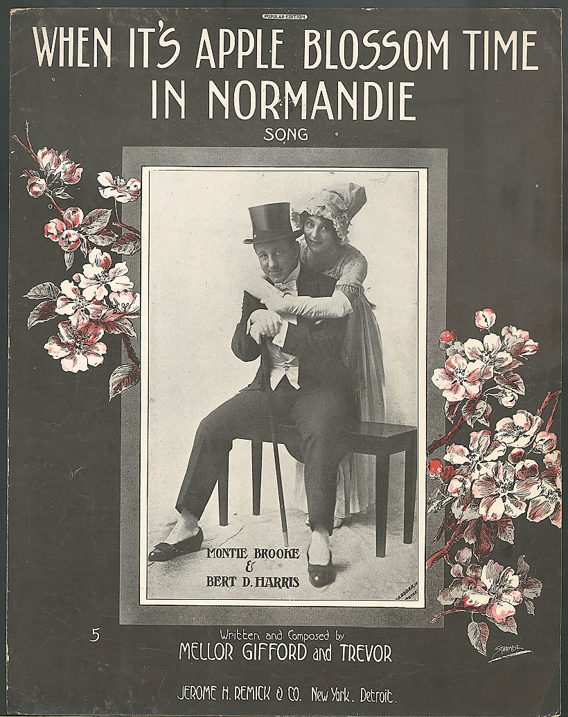 When It's Apple Blossom Time in Normandie sheet music 1912
