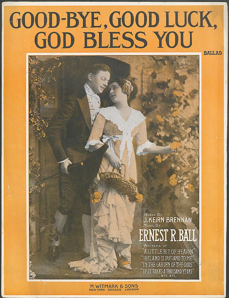 Good Bye Good Luck God Bless You sheet music 1916