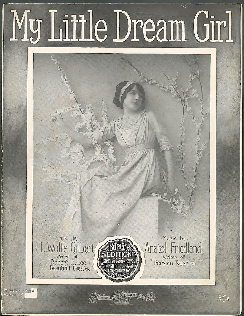 My Little Dream Girl sheet music Gilbert & Friedland 1915