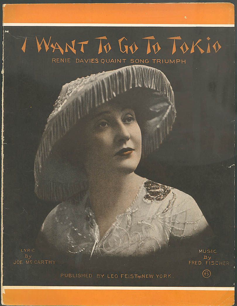 I Want to Go to Tokio sheet music Renie Davies 1914