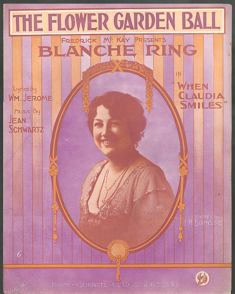 The Flower Garden Ball sheet music Blanche Ring 1913