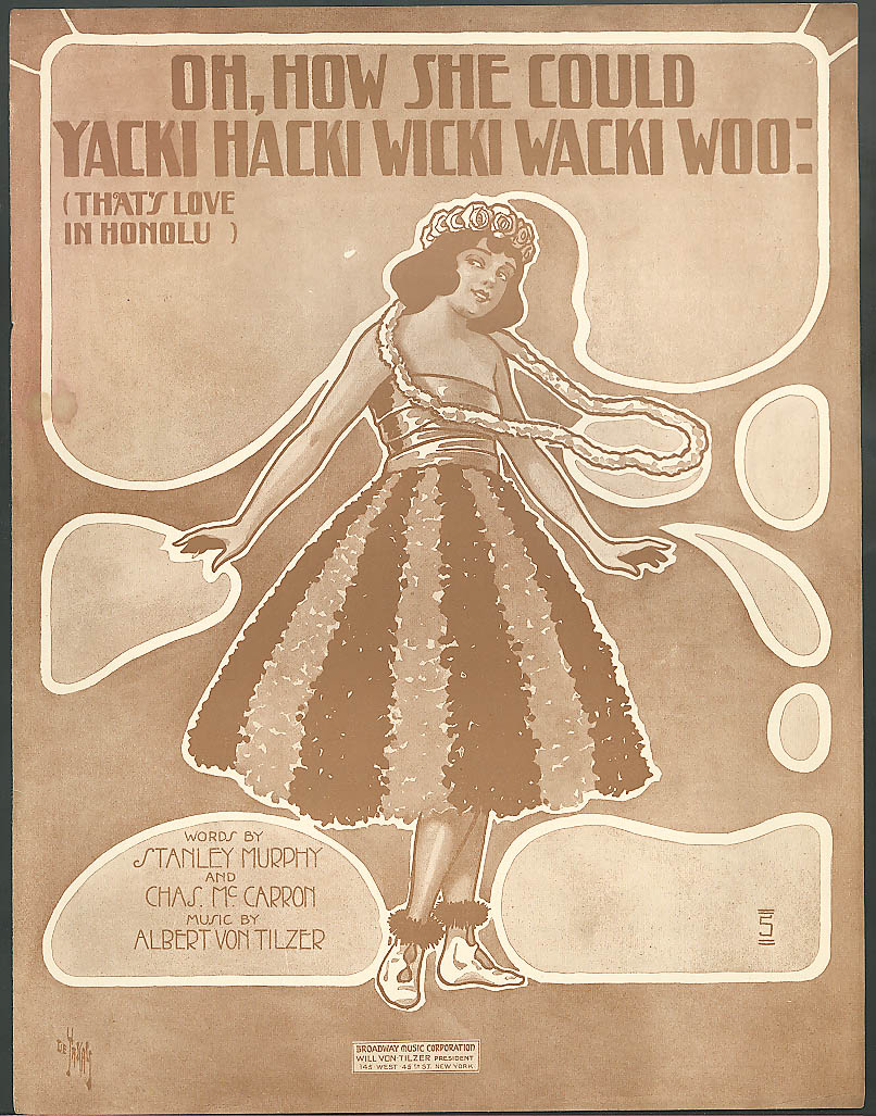 Oh How She Could Yacki Hacki Wicki Wacki Woo music 1916