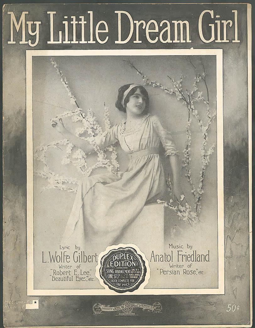 My Little Dream Girl sheet music Gilbert-Friedland 1915