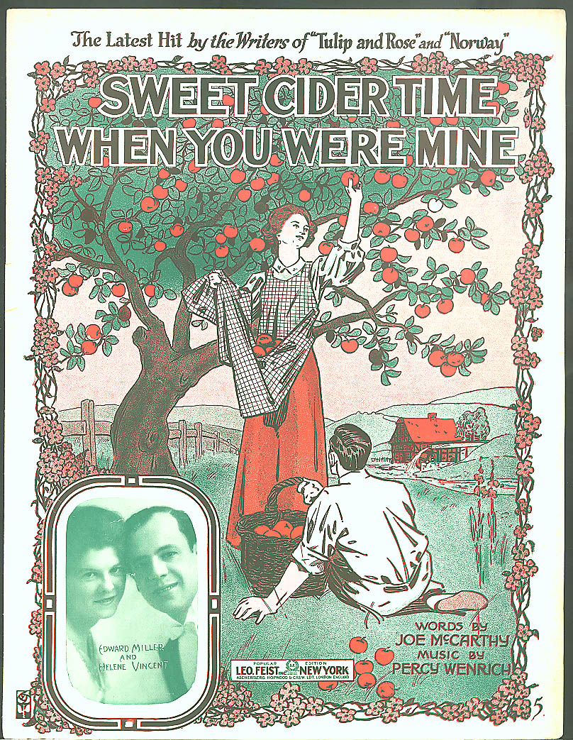Sweet Cider Time When You Were Mine sheet music 1916