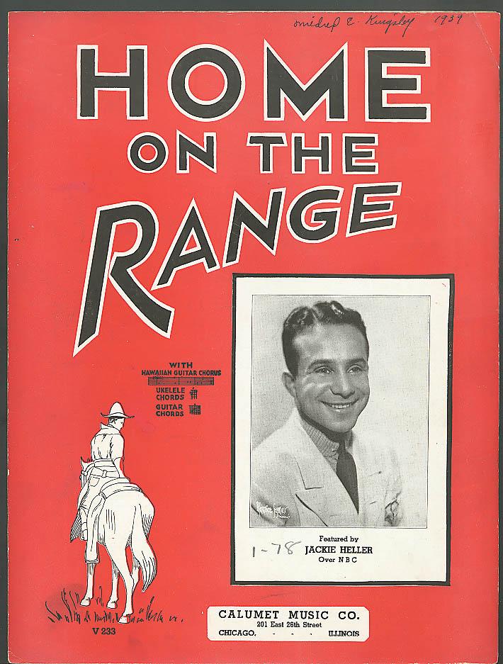 Home on the Range sheet music Calumet Chicago 1935