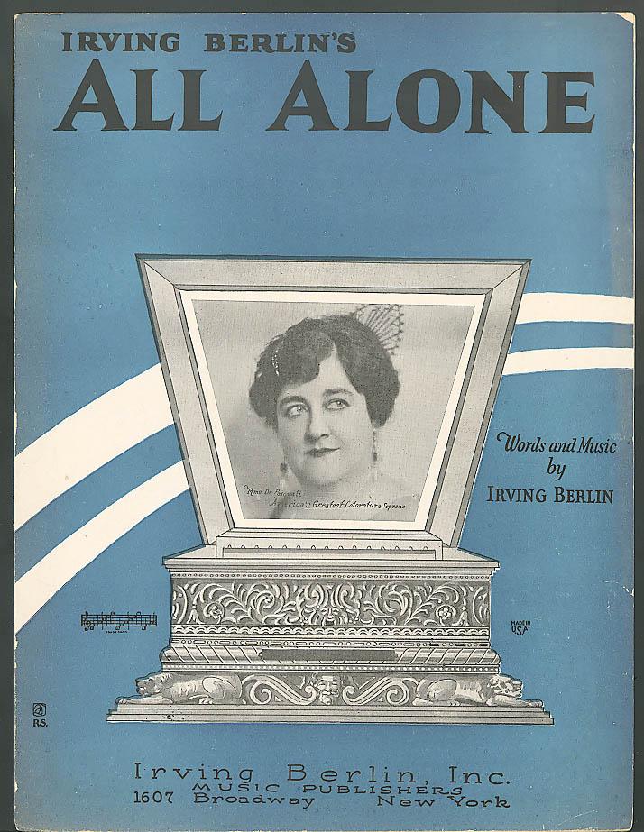 All Alone sheet music Irving Berlin 1924
