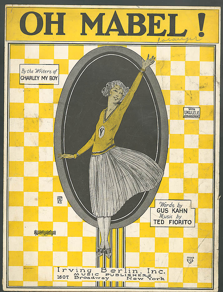 Oh Mabel! Pretty girl sheet music Gus Kahn 1924