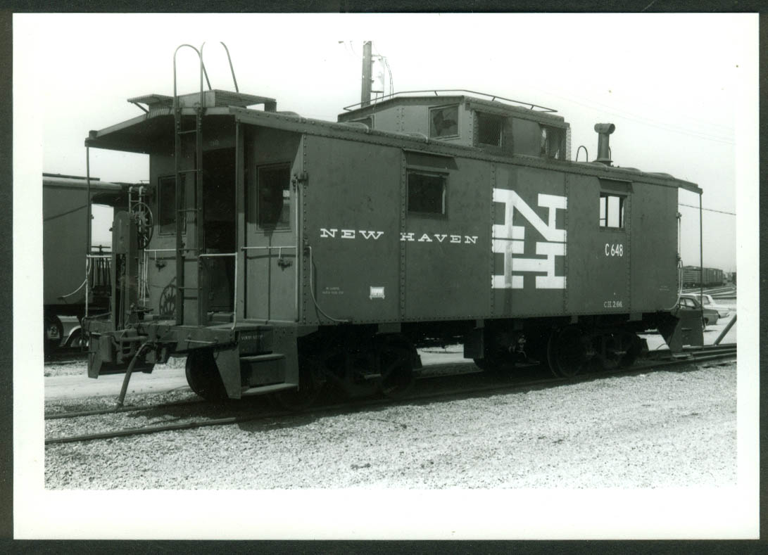 New York New Haven & Hartford RR Caboose #C-648 Selkirk NY 1970 photo