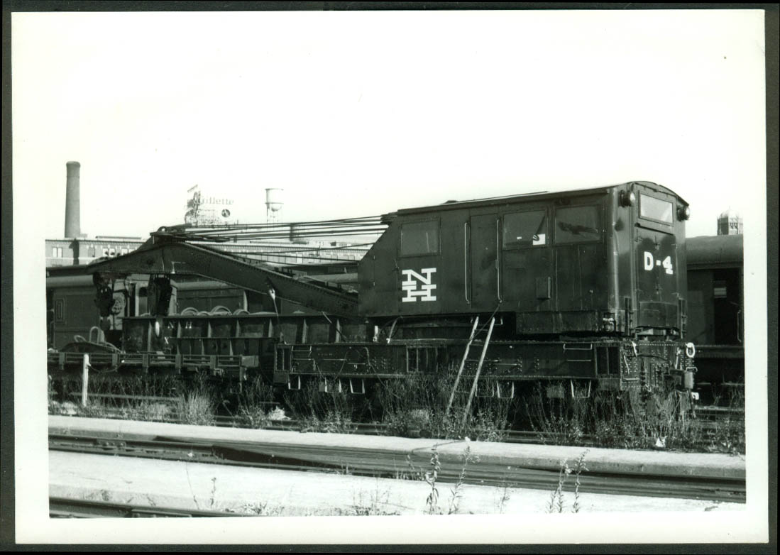 New York New Haven & Hartford RR Wrecker Crane D-4 Boston MA 1968 photo