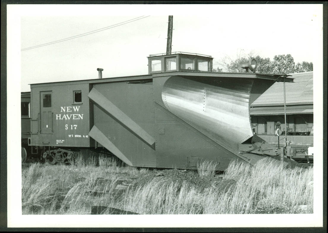 New York New Haven & Hartford RR Snowplow #S-17 Framingham MA undated photo