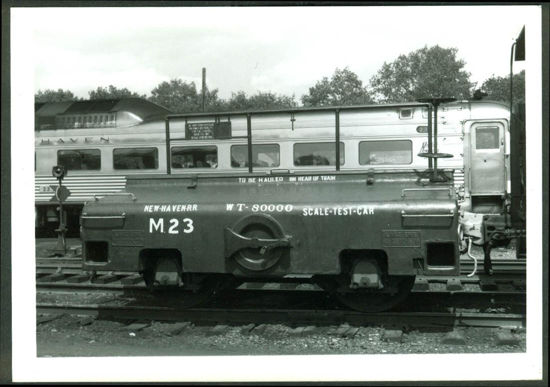 New York New Haven & Hartford RR Scale Test Car #M-23 Waterbury CT 1968 photo