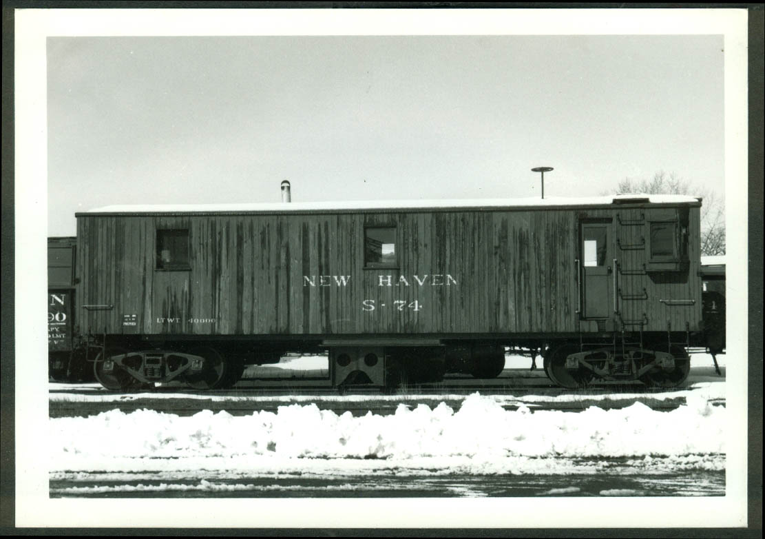 New York New Haven & Hartford RR Snow Flanger #S-74 Danbury CT 1966 photo