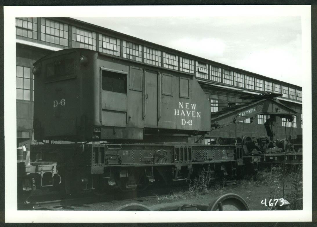 New York New Haven & Hartford RR Wrecker Crane #D-6 Maybrook NY 1966 photo