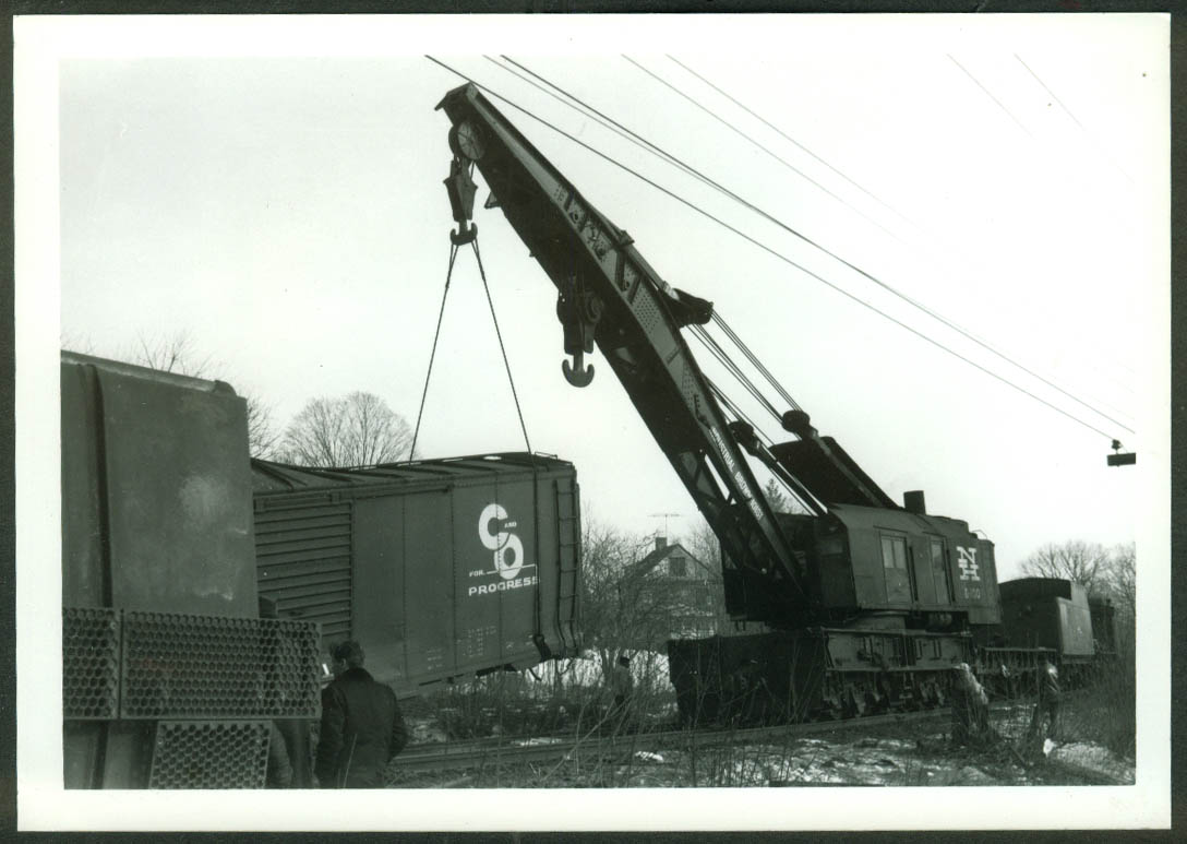 New York New Haven & Hartford RR Industrial Brownhoist Crane #D-100 1968 photo