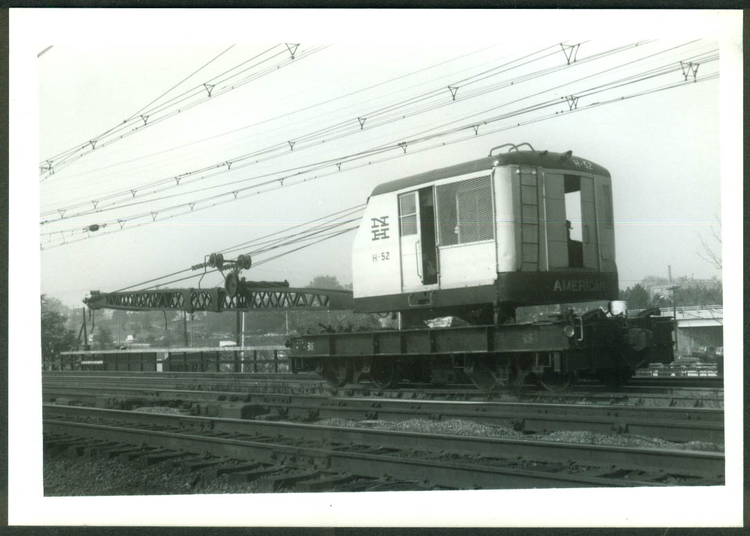 New York New Haven & Hartford RR Work Crane #H-52 Stamford CT 1968 photo