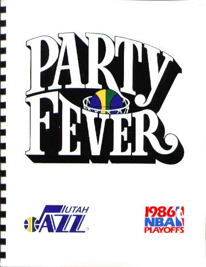 Image for 1986 Utah Jazz Playoffs Media Guide NBA Basketball