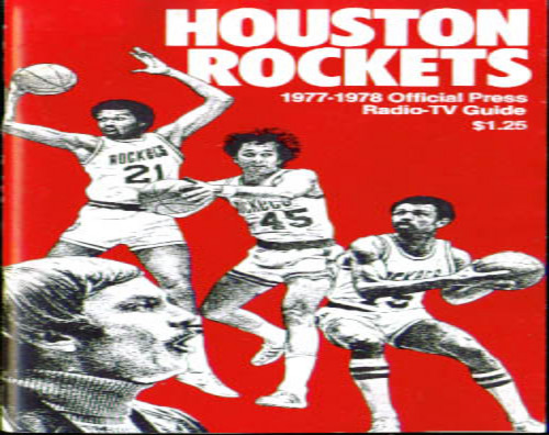 1977-78 Houston Rockets Media Guide
